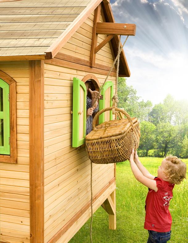 kinder spielhaus flaches podest kinderspielhaus stelzenhaus rutsche b 170cm spielhaus. Black Bedroom Furniture Sets. Home Design Ideas