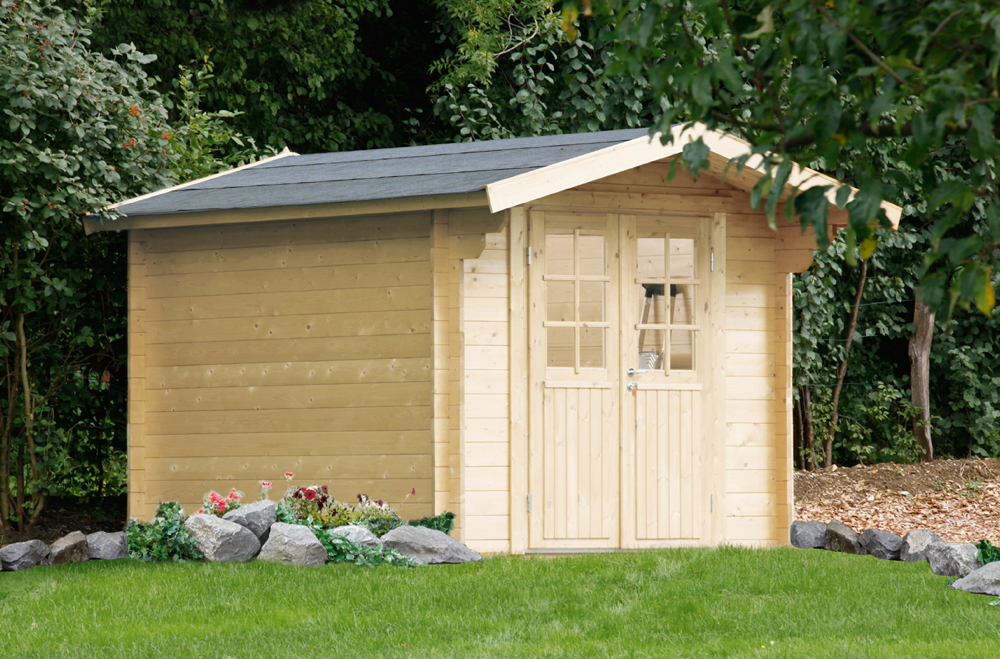 Gartenhaus 240x240cm Holzhaus Bausatz Holz 34mm Gartenhaus Doppeltur Vom Garten Fachhandler