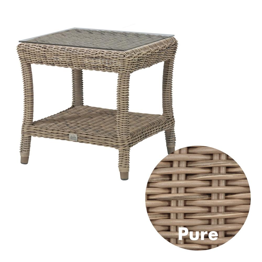 Gartentisch 4SEASONS «Buckingham PURE» Beistelltisch 60x60cm, Rattan ...