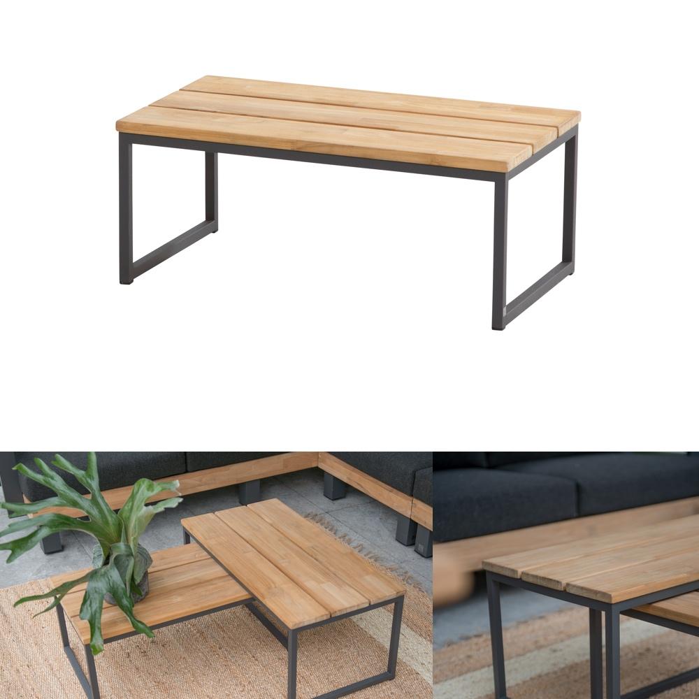 Gartentisch 4Seasons «Essence» Couchtisch 74x42, Aluminiumgestell ...