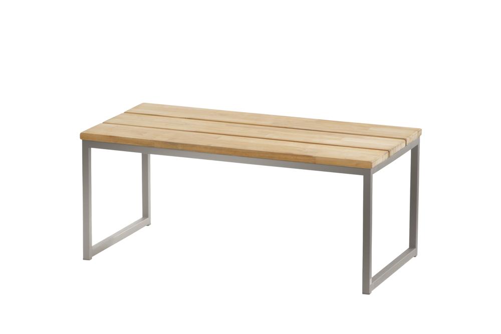Gartentisch 4seasons Essence Edelstahl Couchtisch 82x42 Teakholz