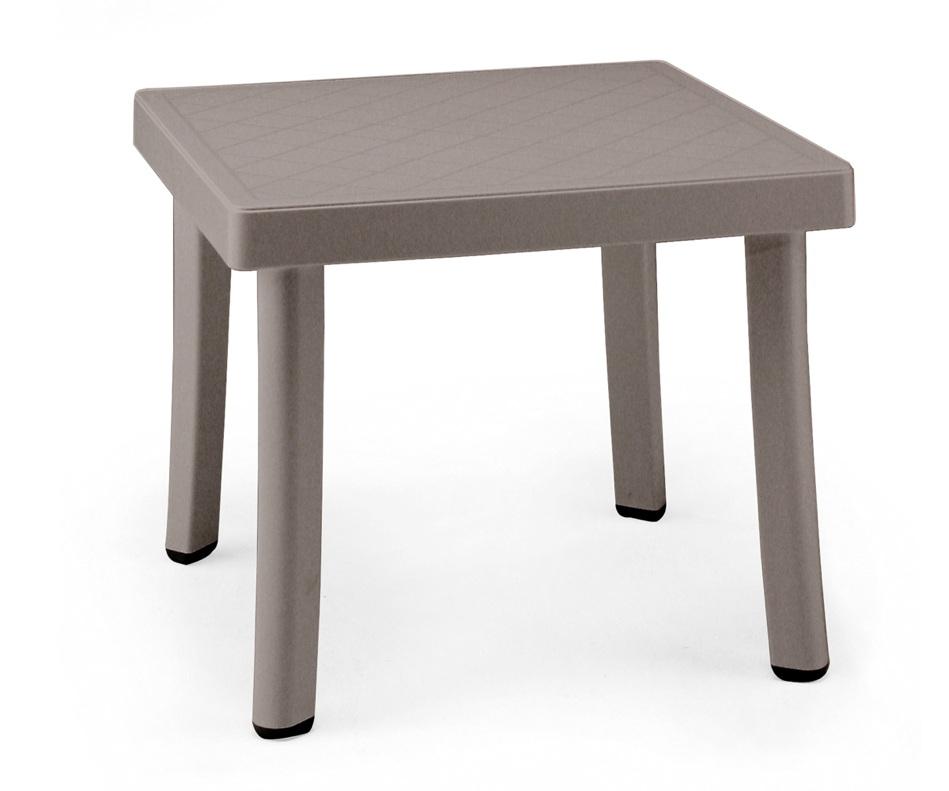 gartentisch nardi rodi 46x46 cm taupe beistelltisch kunststofftisch gartenm bel fachhandel. Black Bedroom Furniture Sets. Home Design Ideas