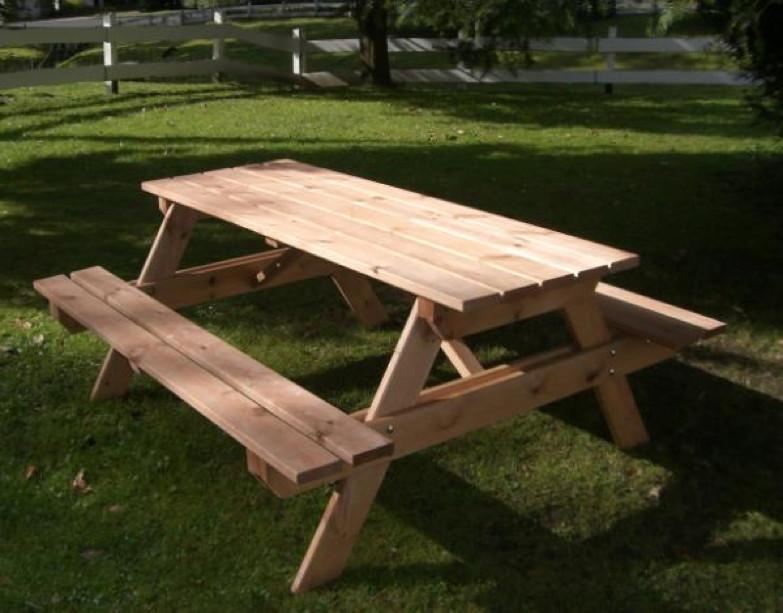 Bierbank PROMADINO Bank Bank mit Tisch Holzbank, Gartenbank mit Tisch