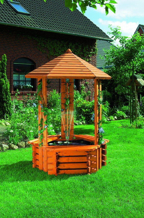 zierbrunnen promadino westerwald holzzierbrunnen gartendekoration zierbrunnen brunnen. Black Bedroom Furniture Sets. Home Design Ideas