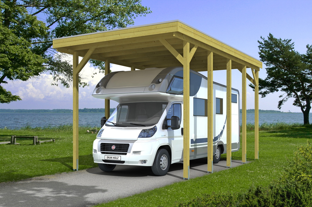 caravan carport bausatz skanholz friesland caravan carport aluminiumdach holz angebot. Black Bedroom Furniture Sets. Home Design Ideas