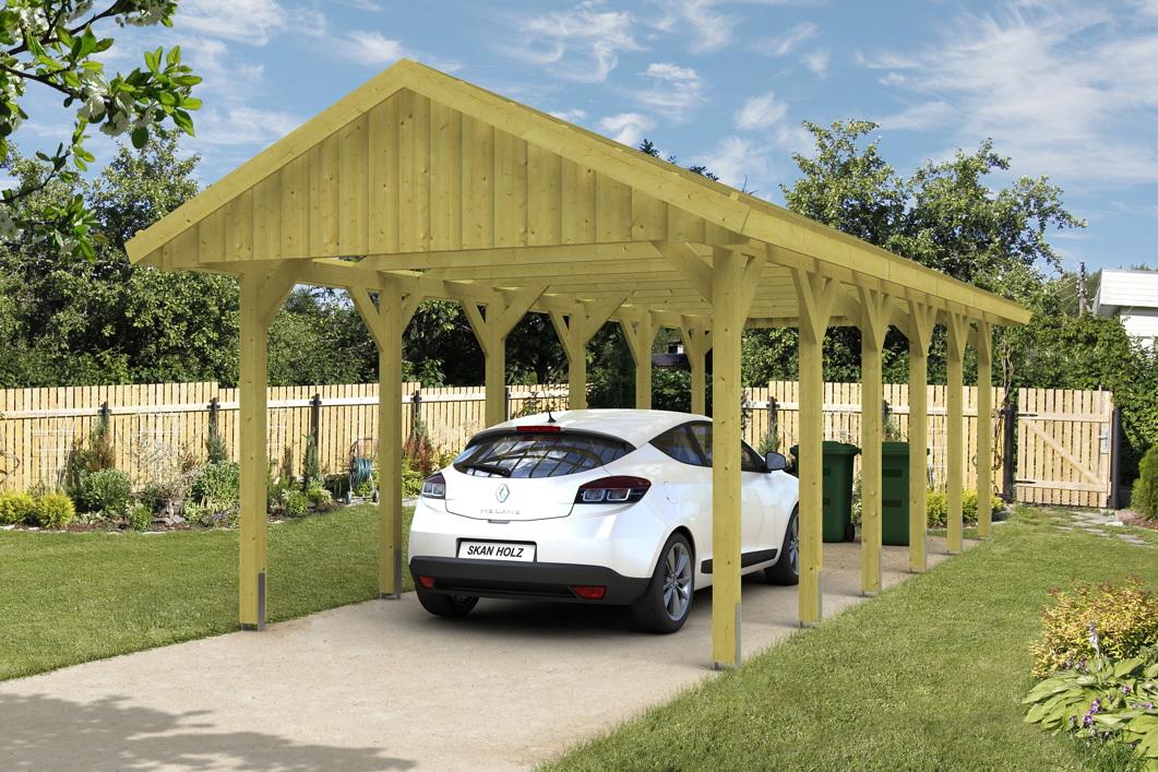holz carport skanholz sauerland einzelcarport mit dachlattung satteldach holz gartenh user. Black Bedroom Furniture Sets. Home Design Ideas