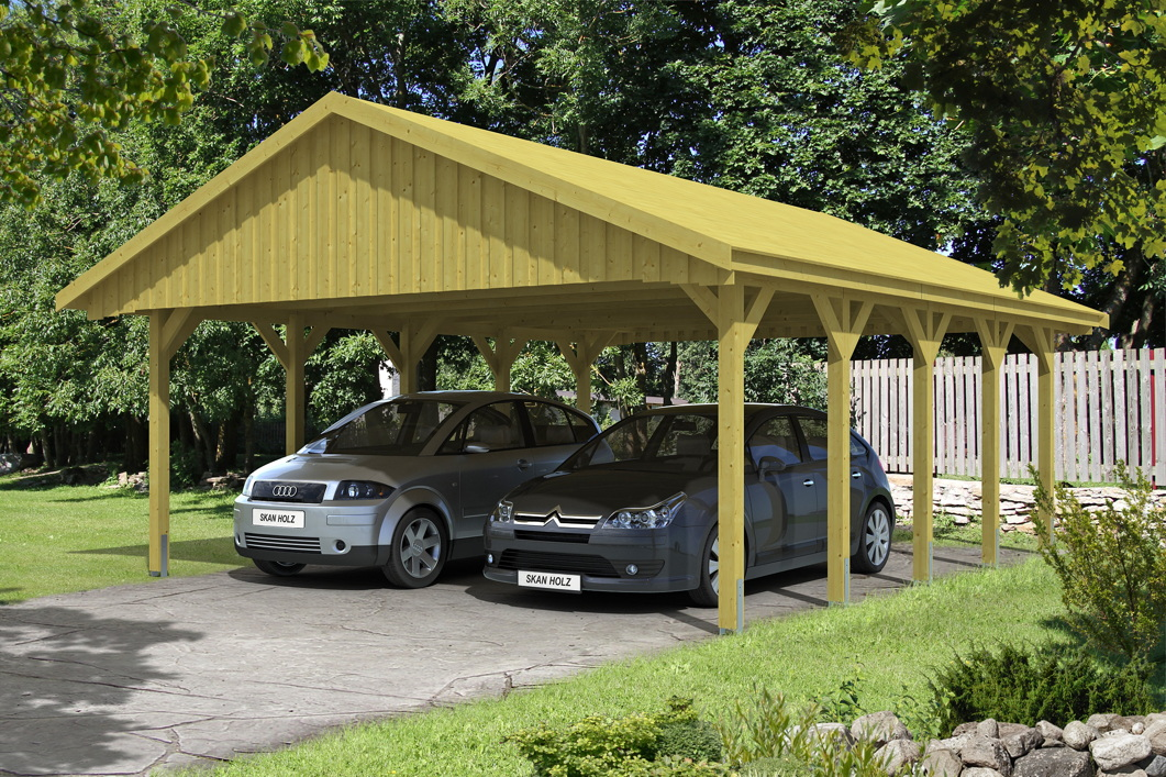holz carport skanholz sauerland doppelcarport mit. Black Bedroom Furniture Sets. Home Design Ideas