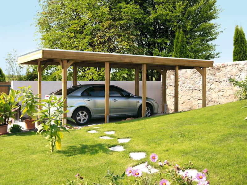 holz carport bausatz skanholz friesland flachdach. Black Bedroom Furniture Sets. Home Design Ideas
