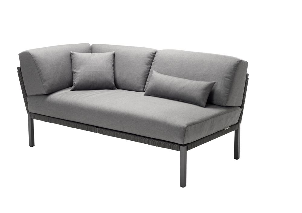 lounge element solpuri club 2er couch armlehne rechts anthrazit aluminium gartenm bel. Black Bedroom Furniture Sets. Home Design Ideas