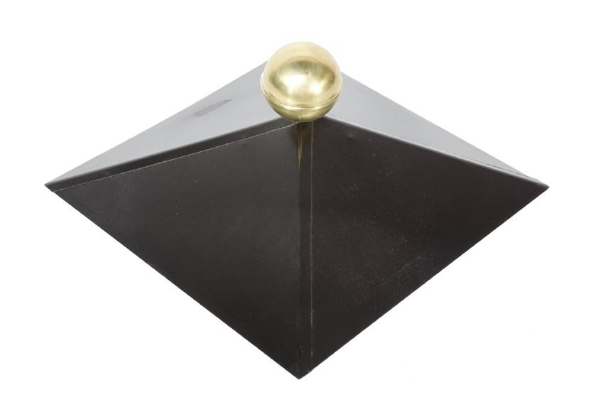 Metall dachhaube f r holz pavillon schwarz 4 eckig mit for Pool 4 eckig