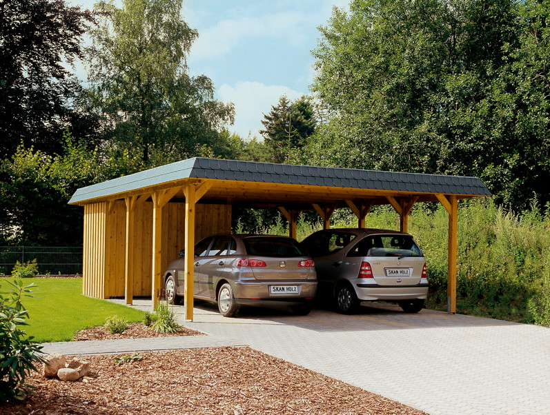 holz carport skanholz spreewald walmdach doppelcarport carports aus holz g nstig kaufen im. Black Bedroom Furniture Sets. Home Design Ideas