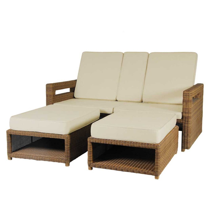 gartenliege alexander rose san marino doppelliege korbliege rattan holz angebot. Black Bedroom Furniture Sets. Home Design Ideas