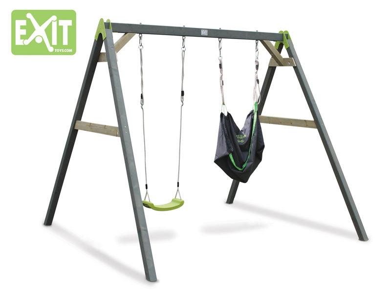 Kinder-Schaukel EXIT Aksent Doppelschaukel mit Sitzsack Holzschaukel