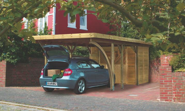 Carport Holz Mit Geräteraum ~ Holz Carport Bausatz KARIBU «Classic Einzelcarport»  Carports aus