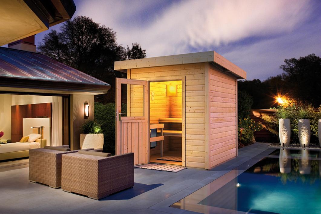 saunahaus wolff lenja pultdach flachdach gartensauna holzsauna wellness beratung und verkauf. Black Bedroom Furniture Sets. Home Design Ideas