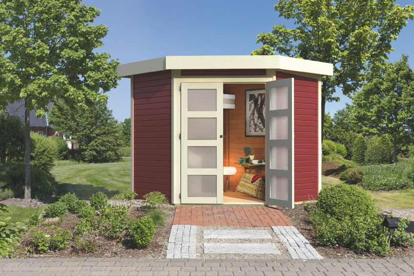 neue gartenh user von karibu holz. Black Bedroom Furniture Sets. Home Design Ideas
