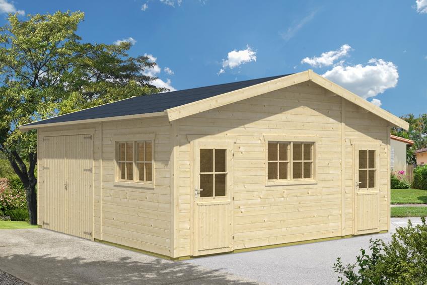 garage skanholz mora 1 einzelgarage 45 mm holzgarage mit gartenhaus garagen aus holz. Black Bedroom Furniture Sets. Home Design Ideas
