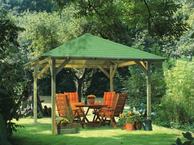 Gartenlaube Aus Holz Gartenpavillon ? Blessfest.info Holz Pavillon Wabenform