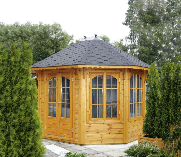 pavillon wolff florenz 8 eck holz pavillon pavillon. Black Bedroom Furniture Sets. Home Design Ideas