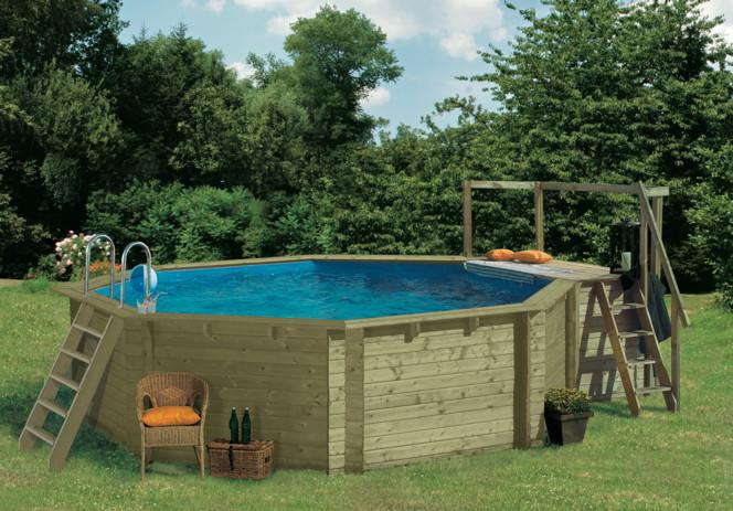 holzpool blockbohlen 400cm schwimmbecken swimmingpool. Black Bedroom Furniture Sets. Home Design Ideas