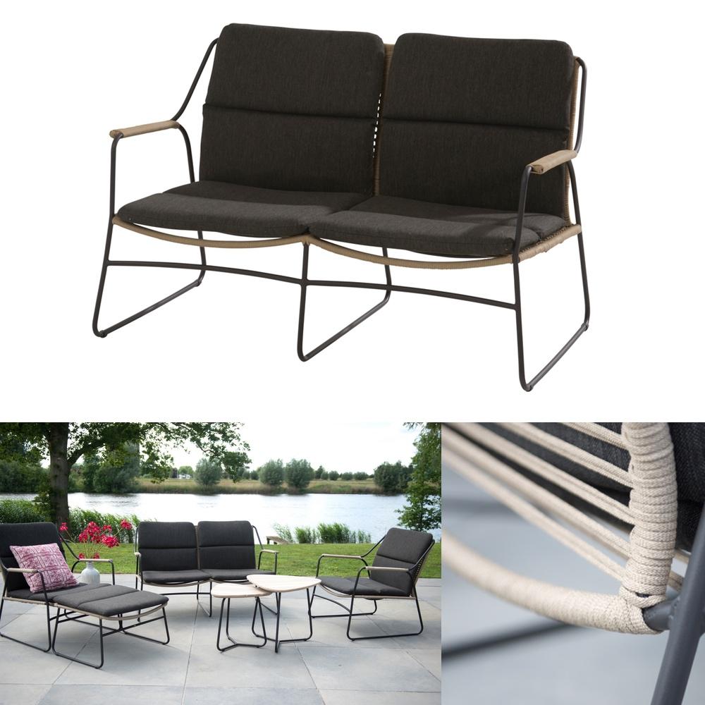 gartenbank 4seasons scandic 2er sofa geflechtsofa mit kissen gartenm bel fachhandel. Black Bedroom Furniture Sets. Home Design Ideas