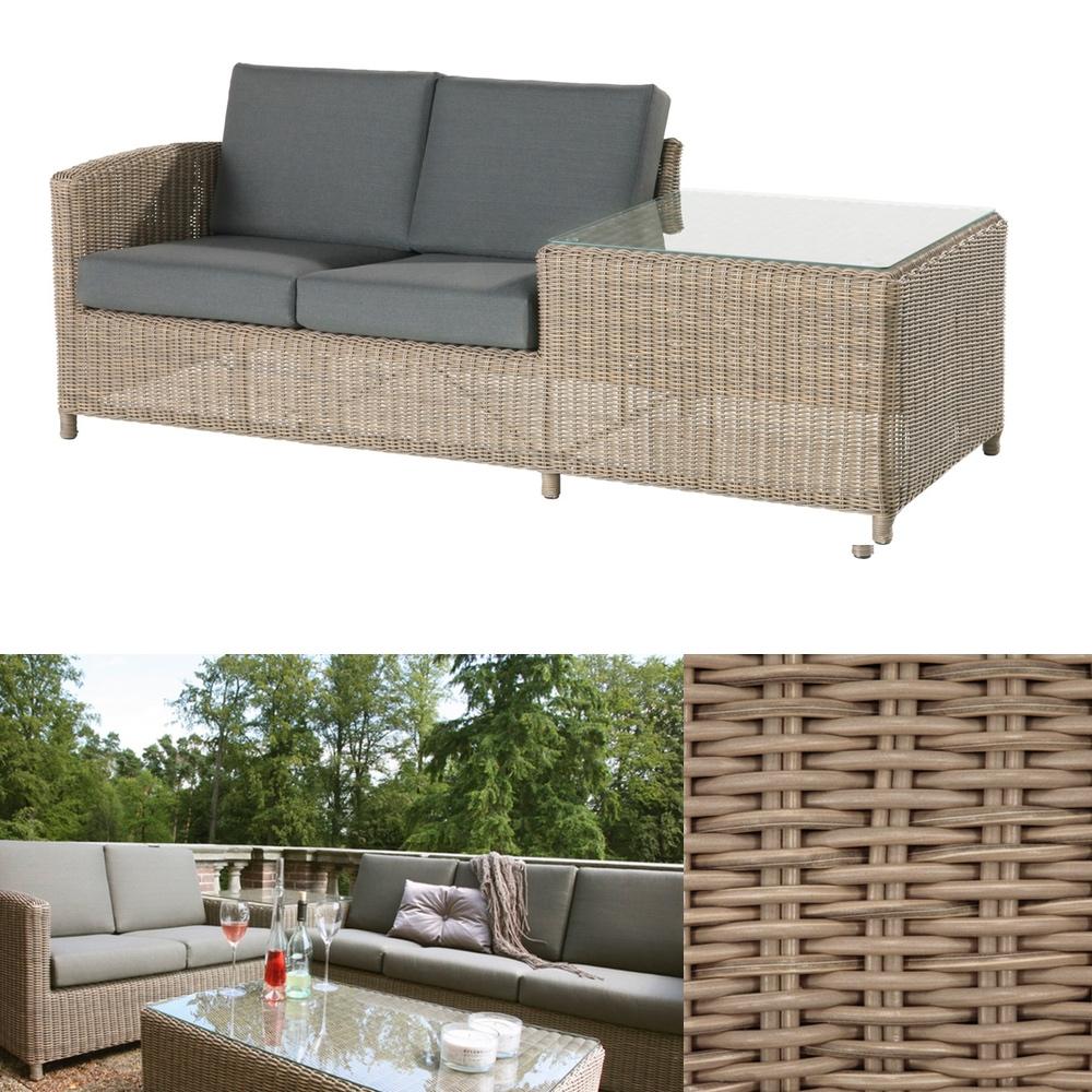 Premium-Polyrattan-Gartencouch 4Seasons «Lodge 2er Sofa» Outdoor mit ...