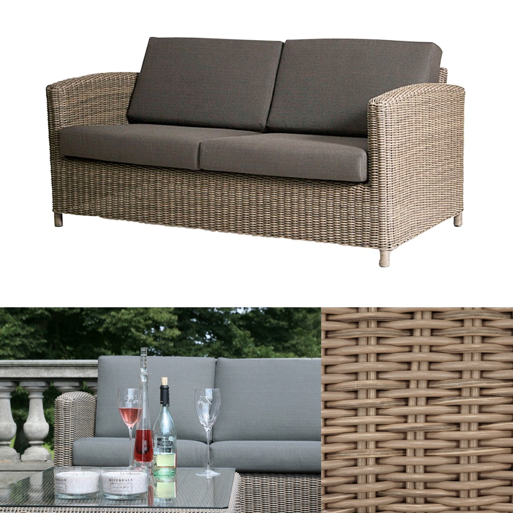 premium polyrattan gartenbank 4seasons lodge 2 5er lounge sofa outdoor couch gartenm bel. Black Bedroom Furniture Sets. Home Design Ideas