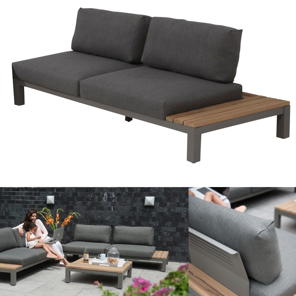 gartenbank 4seasons fidji 2 er sofa teakholz inkl kissen gartenm bel fachhandel. Black Bedroom Furniture Sets. Home Design Ideas