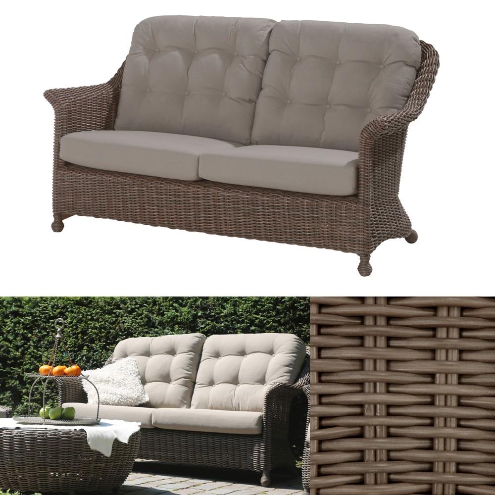Gartenbank 4seasons Madoera 25er Sofa Polyrattan Lounge Premium