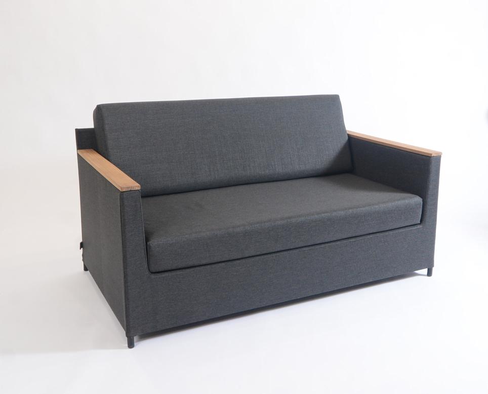 gartenstuhl fischer rio lounge 2er sofa anthrazit aluminium textilene gartenm bel fachhandel. Black Bedroom Furniture Sets. Home Design Ideas
