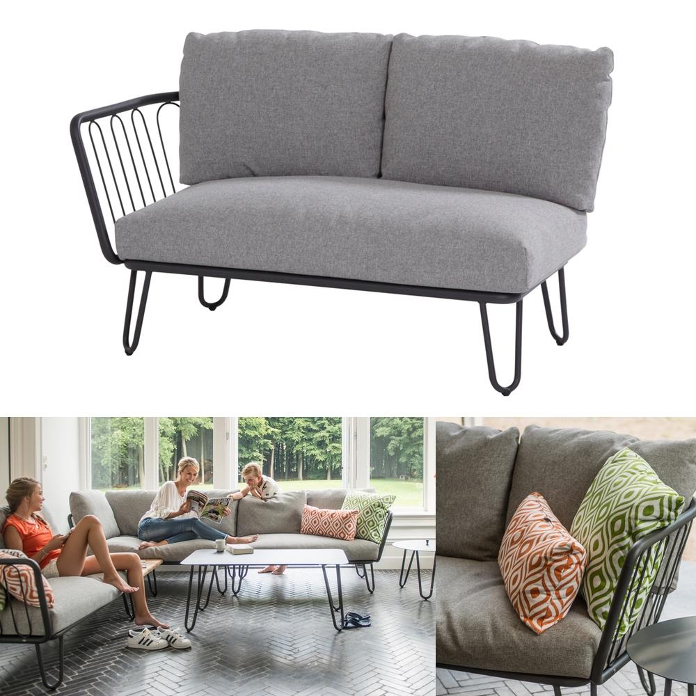 Hervorragend Gartenbank 4Seasons «Premium» 2er Sofa, Endmodul Armlehne rechts BZ56
