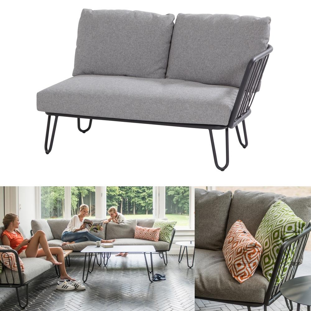 gartenbank 4seasons premium 2er sofa endmodul armlehne links aluminium gartenm bel fachhandel. Black Bedroom Furniture Sets. Home Design Ideas
