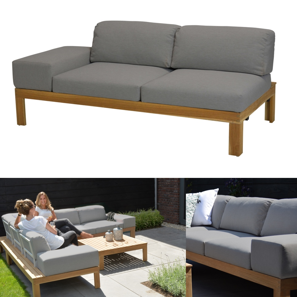 gartenbank 4seasons mistral teak 2er sofa rechts. Black Bedroom Furniture Sets. Home Design Ideas