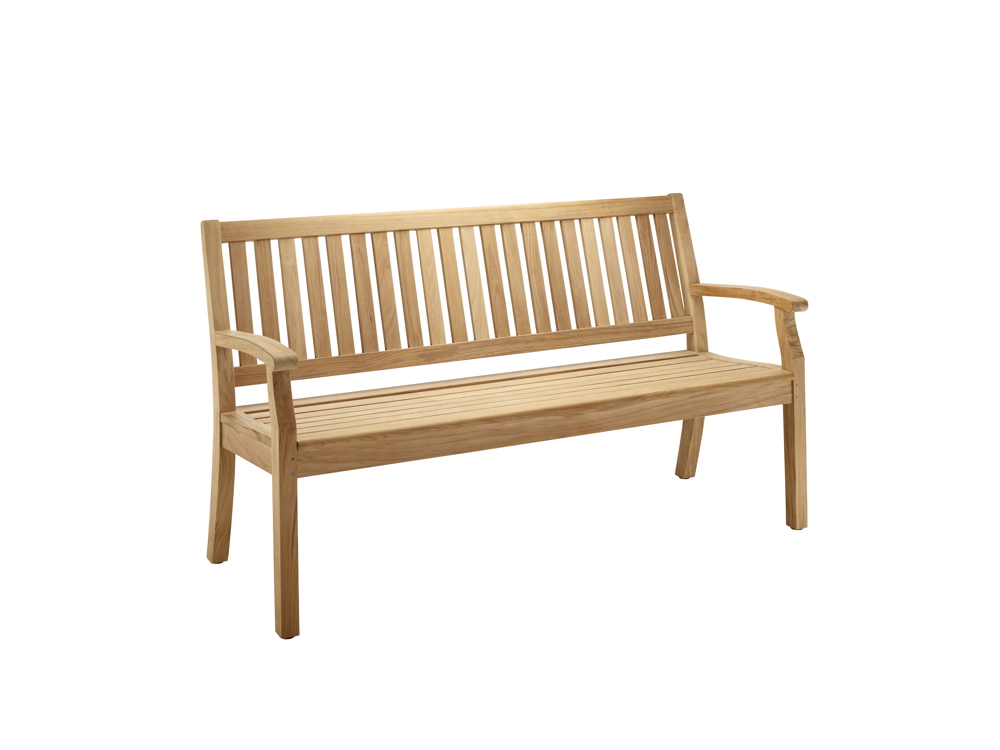 Gartenbank SOLPURI Windsor Bank Medium 3 Er Teakholz Holzbank Sitzer