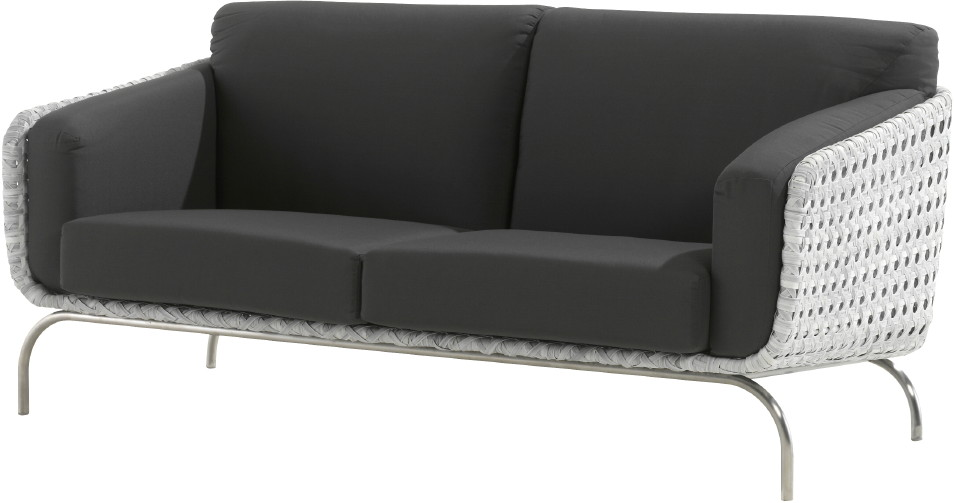 luxus polyrattan geflecht outdoor lounge sofa luton 2er sofa gartenm bel fachhandel. Black Bedroom Furniture Sets. Home Design Ideas