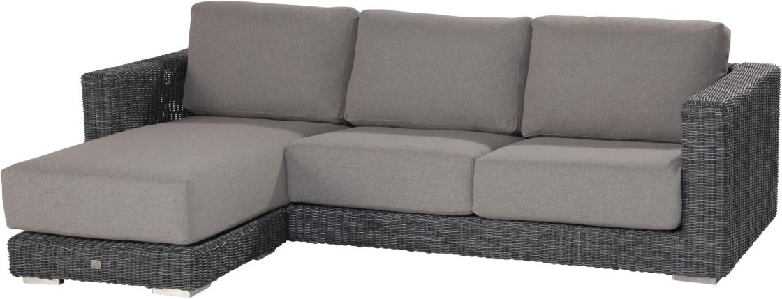 Gartensofa polyrattan  Polyrattan-Gartensofa «Somerset» Recamiere-Couch Geflecht ...