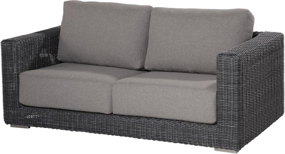 Gartensofa polyrattan  Polyrattan-Gartensofa «Somerset» 2er-Couch Geflecht Premium ...