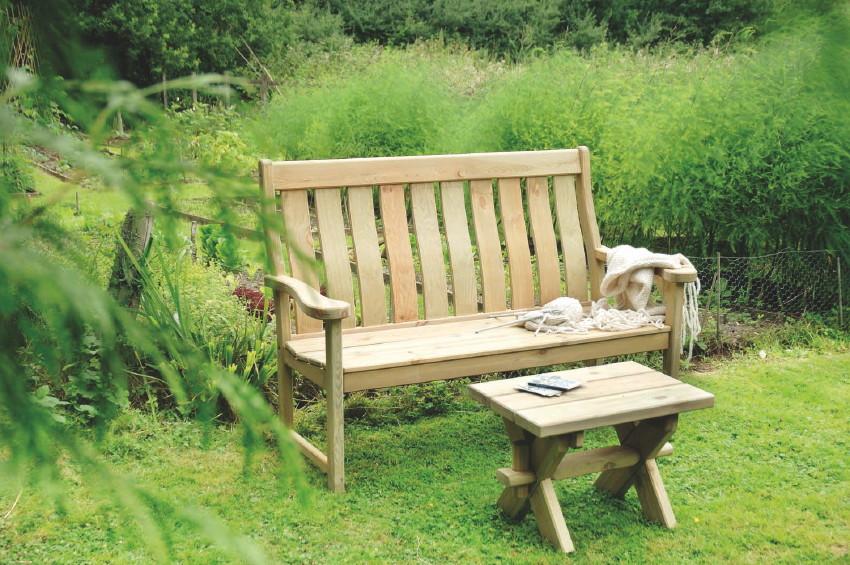 gartenbank alexander rose pinie farmers 3er bank holzbank vom garten fachh ndler. Black Bedroom Furniture Sets. Home Design Ideas