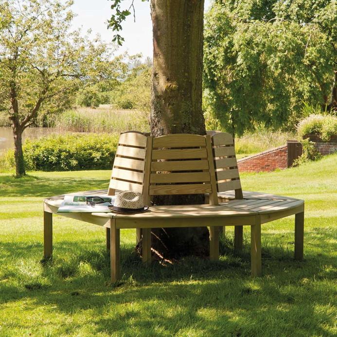 gartenbank alexander rose pinie baumbank holzbank. Black Bedroom Furniture Sets. Home Design Ideas