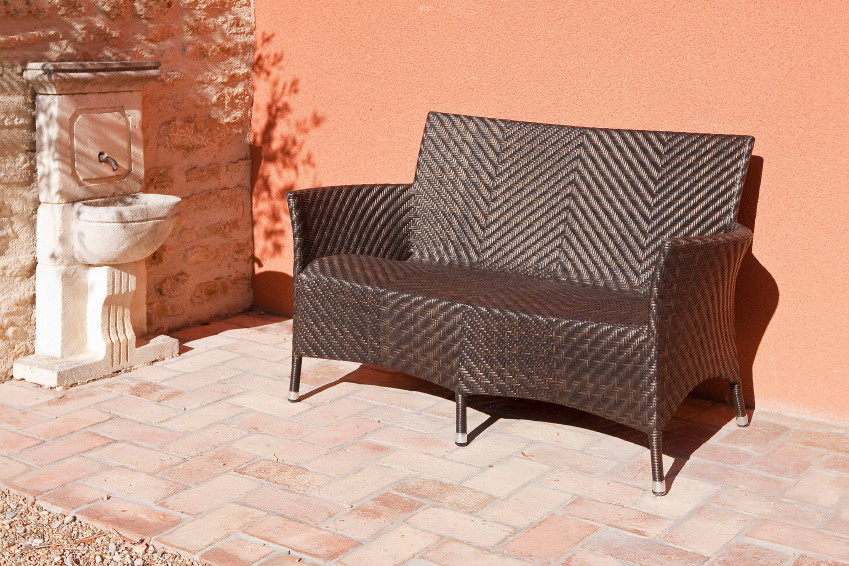 gartenbank alexander rose ocean wave 2er sofa rattan korbsessel gartenm bel fachhandel. Black Bedroom Furniture Sets. Home Design Ideas