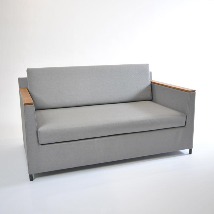gartenstuhl fischer rio lounge 2er sofa silber grau aluminium textilene gartenm bel fachhandel. Black Bedroom Furniture Sets. Home Design Ideas