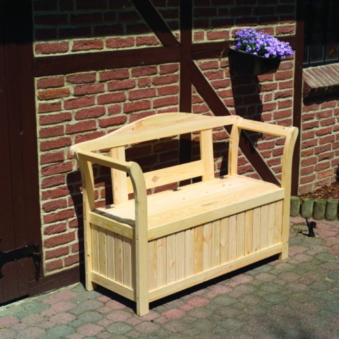 gartenbank friesenbank mit auflagenbox sitzbank kissentruhe holzbank sitztruhe vom garten. Black Bedroom Furniture Sets. Home Design Ideas