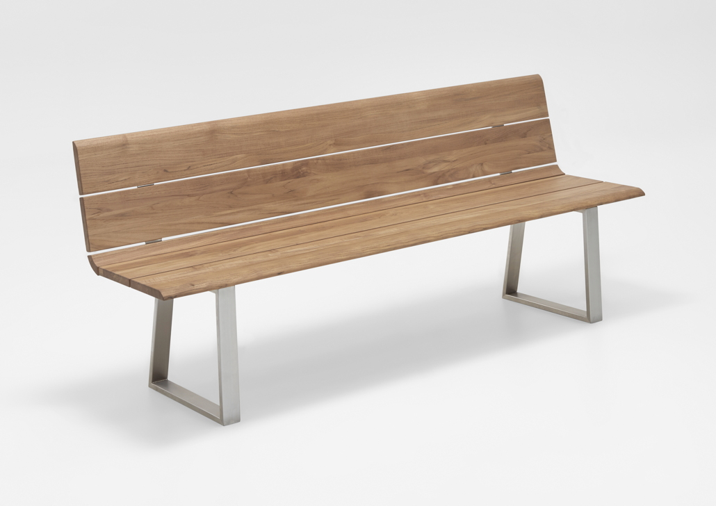 gartenbank niehoff nova bank 220cm mit r ckenlehne teak recycled holzbank gartenm bel. Black Bedroom Furniture Sets. Home Design Ideas