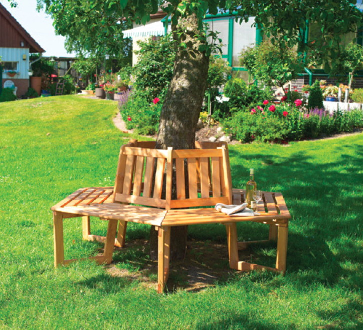baumbank holz gartenbank holzbank lieblingsplatt honigfarben hellbraun holz angebot. Black Bedroom Furniture Sets. Home Design Ideas