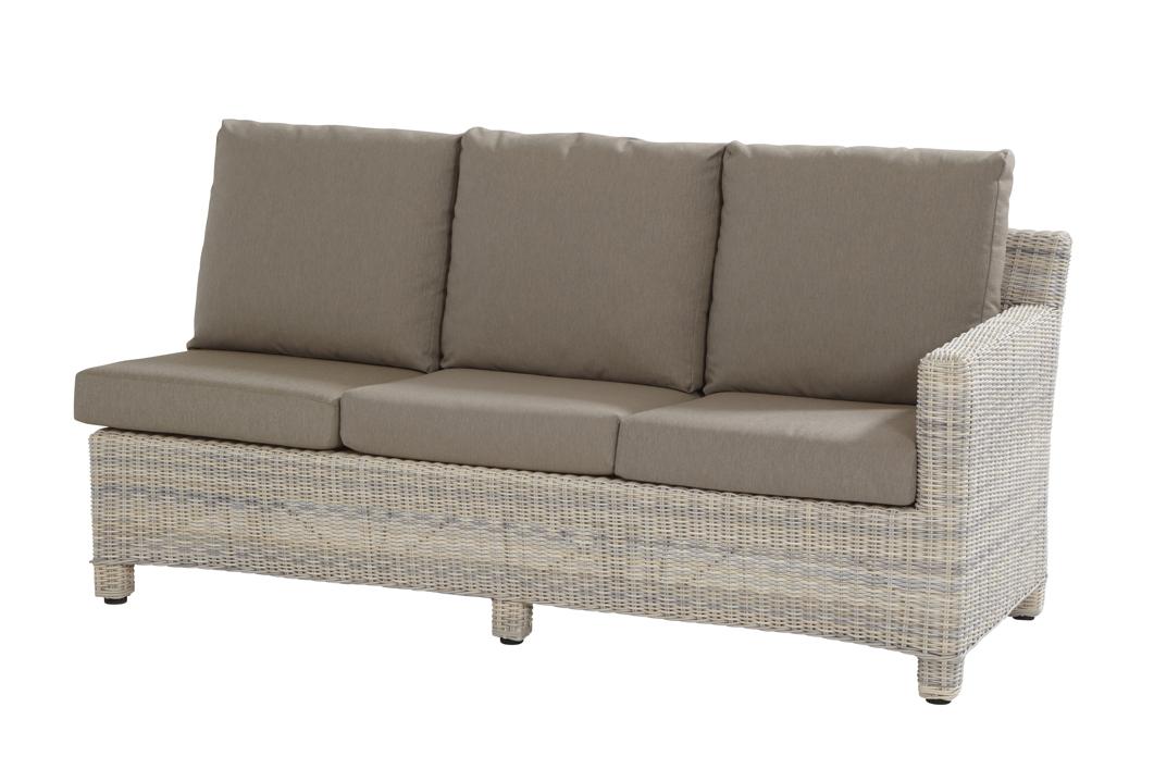 Lounge-Gartencouch «Rio Cosy 3er Sofa Eckmodul elzas» Polyrattan ...