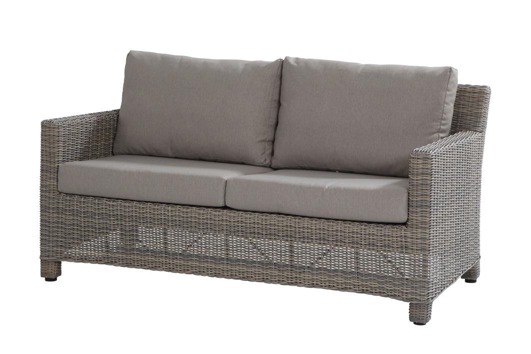 lounge gartencouch rio cosy 2er sofa roca polyrattan geflecht grau gartenm bel fachhandel. Black Bedroom Furniture Sets. Home Design Ideas