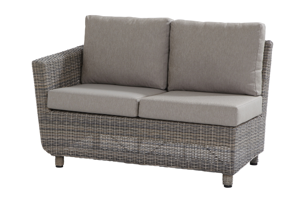gartenbank fortaleza 2er sofa roca eckelement armlehne rechts geflecht rattan gartenm bel. Black Bedroom Furniture Sets. Home Design Ideas