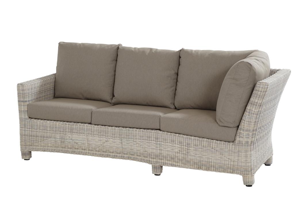 Rattan gartenmöbel sofa  Lounge-Gartenbank «Rio Cosy 3er Sofa elzas» Geflecht, Rattan ...