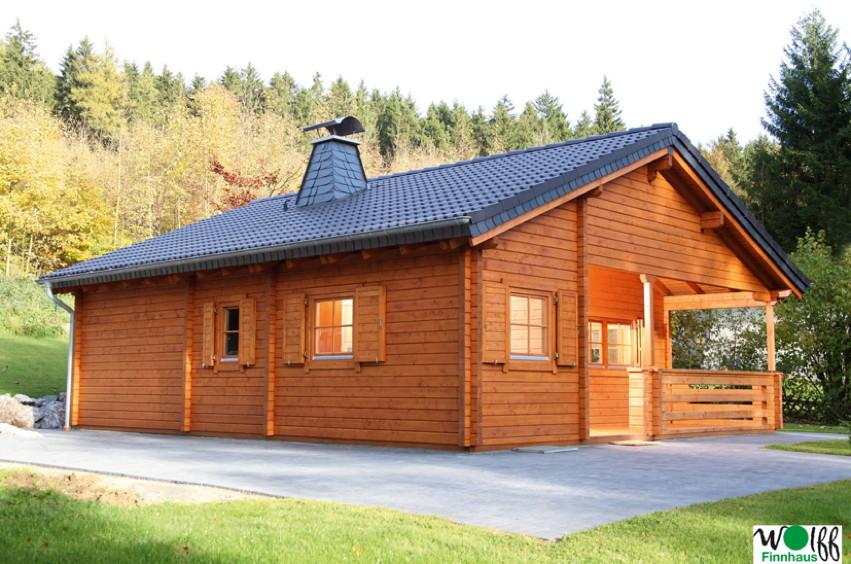 Gartenhaus «Vogelsberg» Ferienhaus, Holzhaus mit Terrasse | vom  Garten-Fachhändler