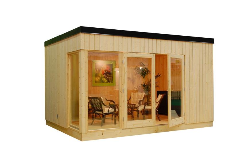 ger tehaus palmako louis flachdach gartenhaus aus holz g nstig kaufen im shop von holz. Black Bedroom Furniture Sets. Home Design Ideas